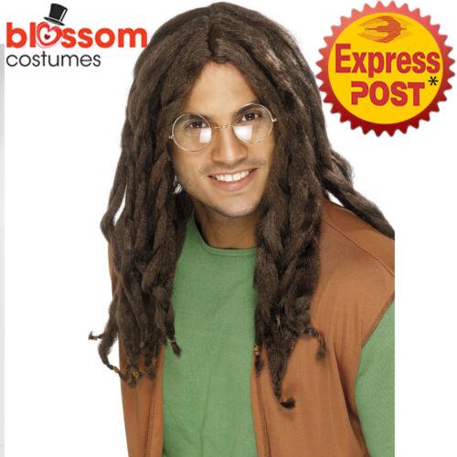 W760 Brown Dreadlocks Dreads Costume Wig Reggae Black Rasta Jamaican Bob Marley