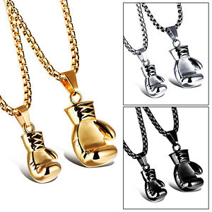 Hot-Fashion-Male-Men-Boxing-Glove-Necklaces-Pendants-Jewelry-stainless-steel