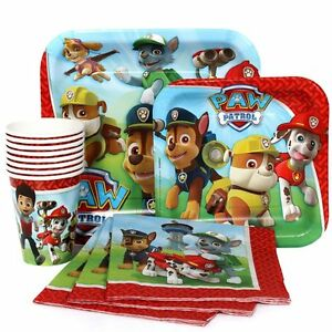 Image is loading Paw-Patrol-Plates-Cups-&-Napkins-Tableware-for-  sc 1 st  eBay & Paw Patrol Plates Cups u0026 Napkins Tableware for 8 Guest Birthday ...