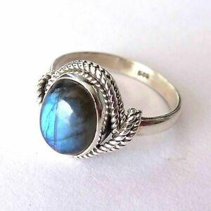 Labradorite Ring 925 Sterling Silver Ring Handmade Ring Boho Ring All Size KA-10