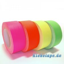 NEON Gaffa Tape  Klebeband Neon Orange 25m x 50mm fluoreszierend UV aktiv