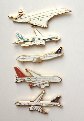 Honesty Set Mit 5 Berühmte Flugzeuge,concorde,787 Emaille Boeing,airbus,747
