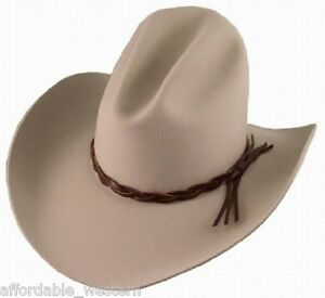 Image is loading Silver-Belly-GUS-HAT-4X-Quality-Felt-Rodeo- 68ccbcae3e80
