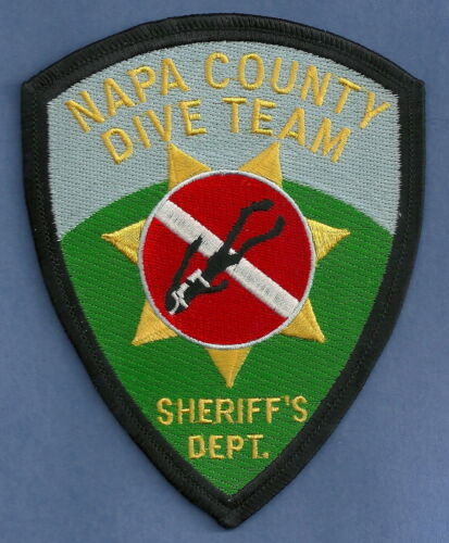 NAPA COUNTY SHERIFF CALIFORNIA POLICE DIVE TEAM PATCH