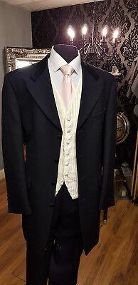 Aufstrebend Mj-144a3 Mens Navy 100wool Wilvorst Prince Edward 3piece Suit Wedding / Formal. Bequem Und Einfach Zu Tragen
