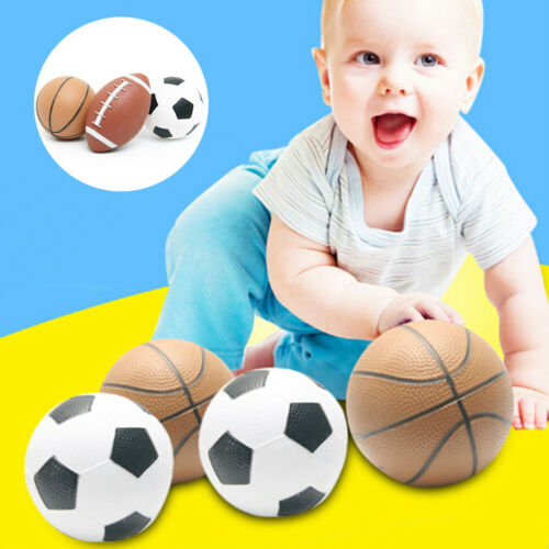 NE/_ Kids Sports Mini Inflatable Rugby Basketball Toys Indoor Outdoor Exercise