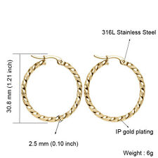 49bba0b049 Coach Mini 18k Gold Plated Rexy Charm Hoop Earrings Gold for sale ...