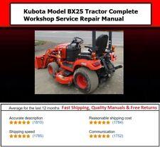 Kubota Model Bx25 Tractor Complete Workshop Service Repair Manual On Cd