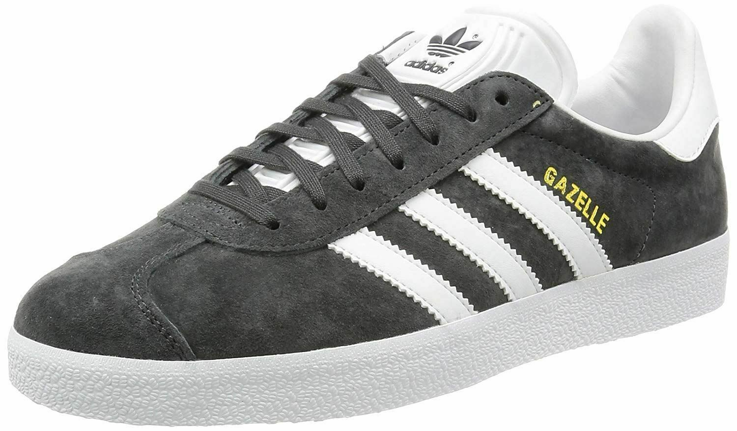 Adidas Original Gazelle Grey White Mens Suede Trainers