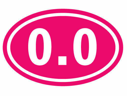 Oval Decal I Dont Run Marathon Running Vinyl Funny Car Truck Bumper Sticker 0.0