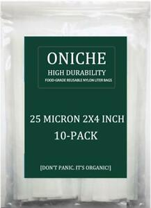 10-Pack-2x4-039-039-in-25-Micron-Oniche-Rosin-Press-Filter-Filtres-A-Colophane-Filtre