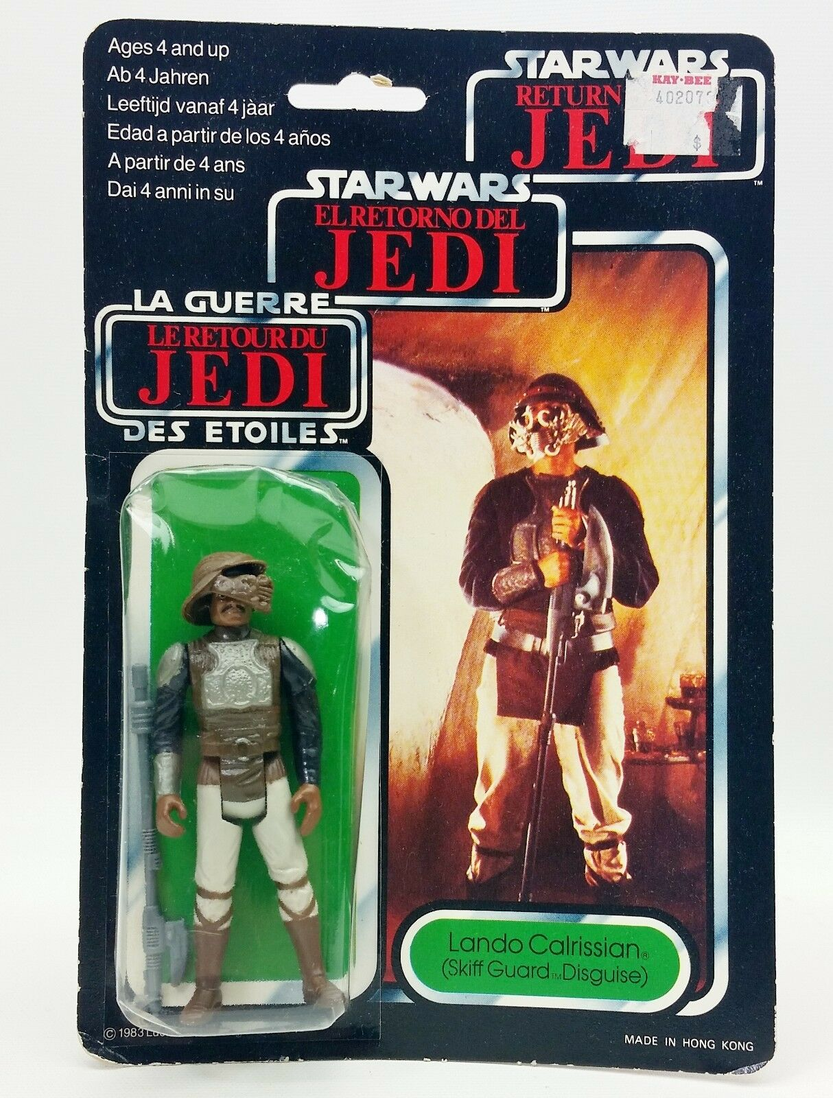 1983 Star Wars Return Of The Jedi Jedi Jedi Lando Calrissian Action Figure NRFP 545c7c
