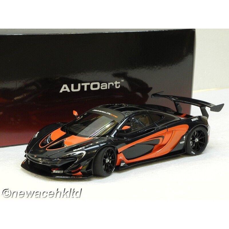 McLAREN P1 GTR (DARK GREY METALLIC orange ACCENTS) AUTOART MODEL 1 18
