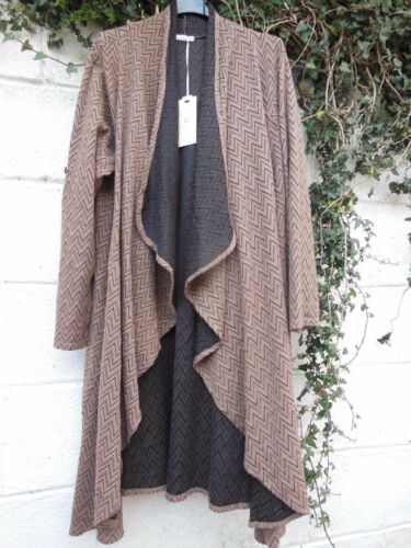 "QUIRKY DUSTER COAT JACKET SEMI WATERFALL OSFA TO 46/"" BUST BNWT LAGENLOOK ETHNIC"