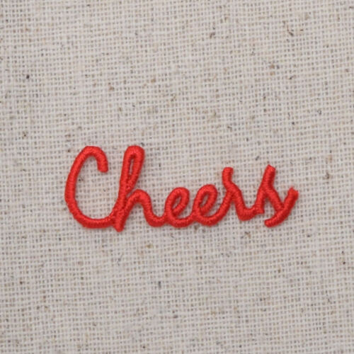 Embroidered Patch Small Red Cheers Word Iron on Applique