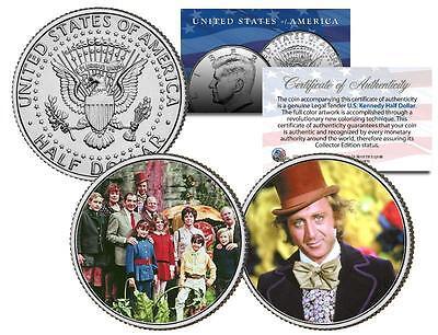 WILLY WONKA & THE CHOCOLATE FACTORY JFK Kennedy Half Dollar 2-Coin Set  eBay