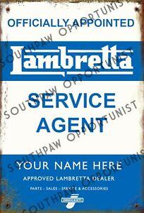 Quadrophenia Mod Vespa Lambretta PERSONALISED 3 Photo Metal Sign 28cm x 19cm