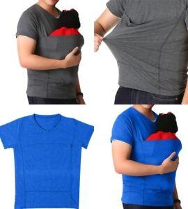 ad84406fdf0 Image is loading Dad-Shirt-Babywearing-Wrap-Carrier-T-Shirt-Kangaroo-