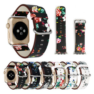 Floral-Leather-Strap-Women-Band-for-Apple-Watch-SE-40-44mm-iWatch-Series-6-5-4-3