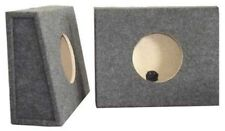 "Speaker Subwoofer Enclosure 8"" Dual Sealed Split Pair Truck Boxes Particle Board"