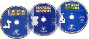 Sammy's Science House Bailey's Book House Millie's Math House  NEW 3 CDs