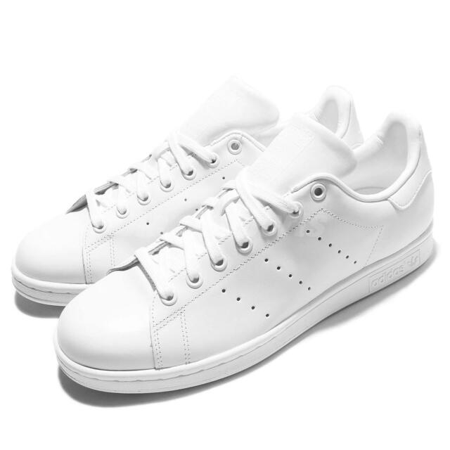 9ade8153fe33 adidas Originals Stan Smith Triple White Monochrome Men Shoes Sneakers  S75104