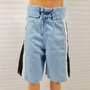 KEN BOTTOM ~ FASHIONISTA MAROON FAUX JEAN SHORTS PANTS DOLL ACCESSORY CLOTHING
