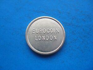 HonnêTe (14c6) Eurocoin London Couleur Or Jeton Coin Unc-afficher Le Titre D'origine Facile à Utiliser