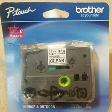 New Listingp Touch Brother Tze 131 Black Print On Clear Tape 12mm X 8m 12