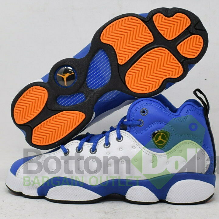 Jordan 820273 400 Boy's Jumpman Team II BG Hyper RoyalOrange Peel White