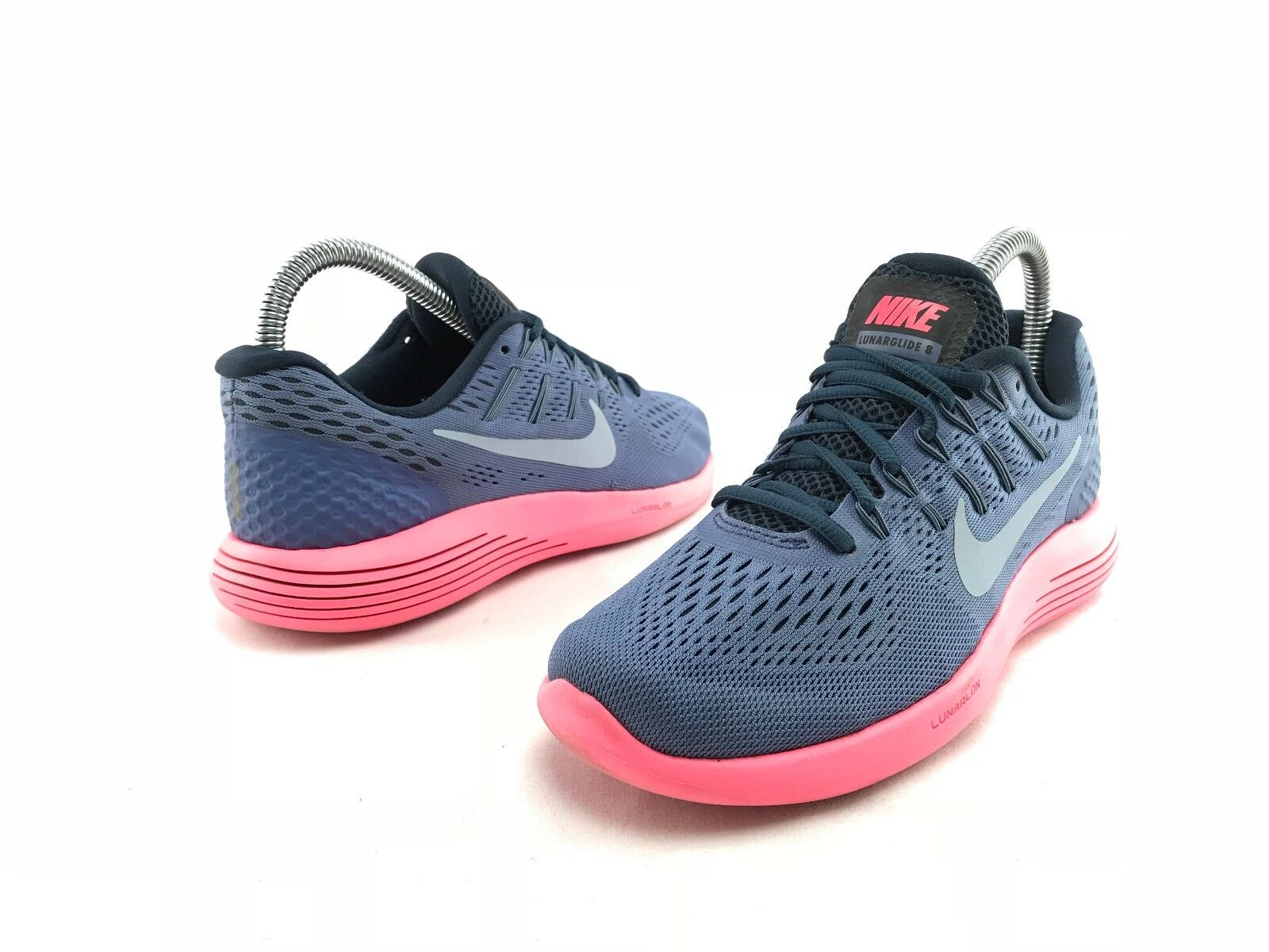 Nike Lunarglide 8 Women's Blue Pink Athletic Sport Running Shoes US 6 B645