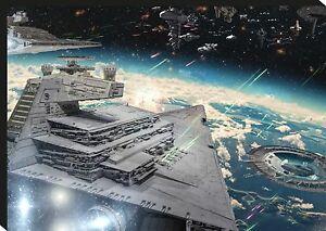 Star-Wars-Star-Destroyer-Space-Movie-Giant-CANVAS-ART-PRINT-A0-A1-A2-A3-A4