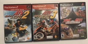 ATV-Offroad-Fury-2-amp-3-MX-vs-ATV-Three-Games-Playstation-2-PS2-Free-Ship
