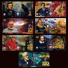POLYMER SET El Club De La Moneda 2;5;10;15;25;50;100 2017 > Great World Writers