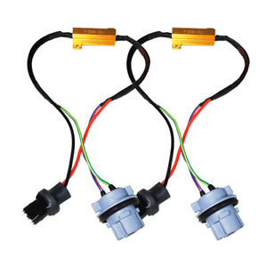 details about 2pcs 7440 992 hyper flash fix no error wiring adapter for led  turn signal lights