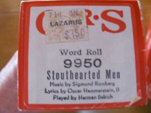 Stouthearted Men by Herman Babich QRS 9950 Original Piano Roll