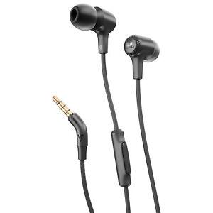 JBL In-Ear Headphones with Mic (JBLE15BLK) - Black