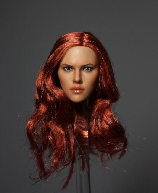 █ Custom Black Widow 2.0 1/6 Head Sculpt for Hot Toys Female Body █