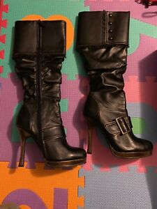 4-039-039-Heel-Knee-High-Boots-by-Ellie-Shoes-New