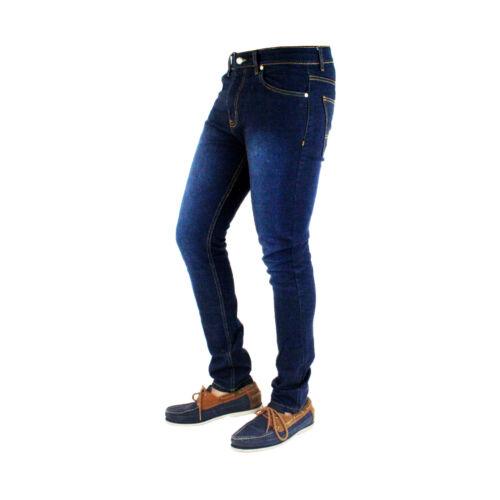MENS SKINNY JEANS DENIM SUPER STRETCH SLIM FIT ALL WAIST /& LEG SIZES BLACK BLUE