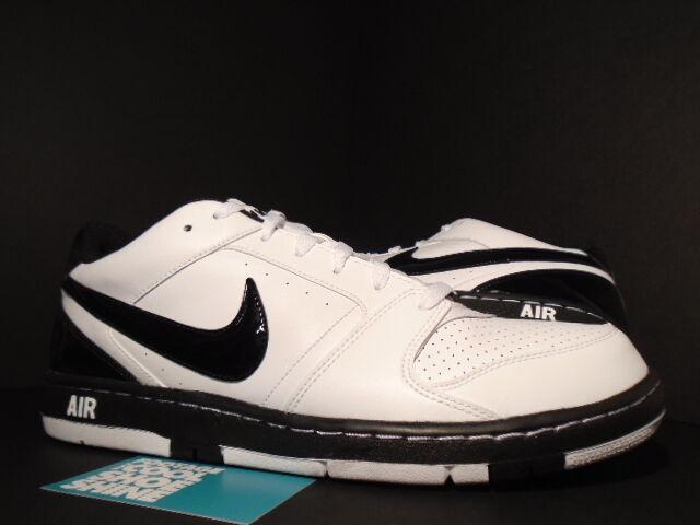 2009 Nike Air Obliger PRESTIGE II 2 blanc noir ORCA 318973-103 NEW 11.5