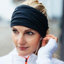 Women Yoga Sports Sweatband Wide Headband Stretch Elastic Hair Band Accessories