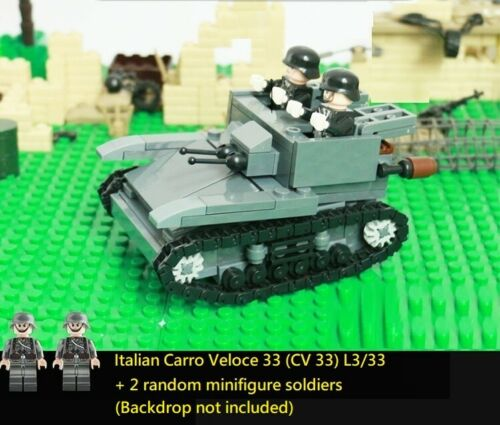 II WW2 tank MOC tankette WWII italian Carro Veloce 33 CV 33 L3//33 World War 2