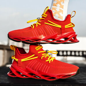 Men-039-s-Air-Cushion-Flyknit-Jogging-Shoes-Athletic-Sports-Outdoor-Running-Sneakers