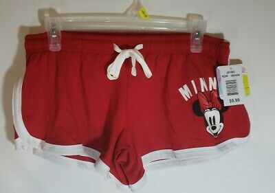 Feudale bombardamento tenuta  New Disney Minnie Mouse Drawstring Shorts Women/Junior Small, 3/5, Red &  White. | eBay