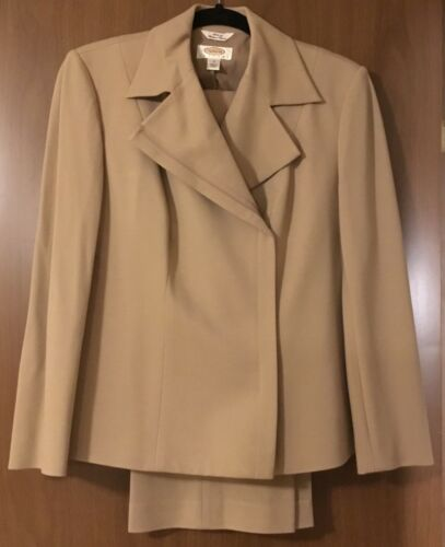italiano Vintage Petites Size Euc Pant 6 tessuto Taupe Talbot's Suit Ut8qw