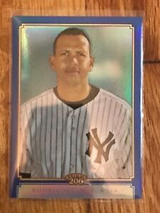 2010 Topps Chrome 206 Blue Refractor #TC20 Alex Rodriguez Yankees # 163/199
