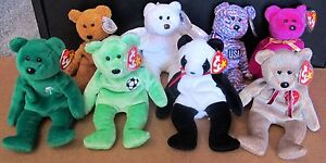 1997 -2000 Ty Beanie Babies Bears Collection Lot of 8 Mint with Tags ... adc6e08bf900