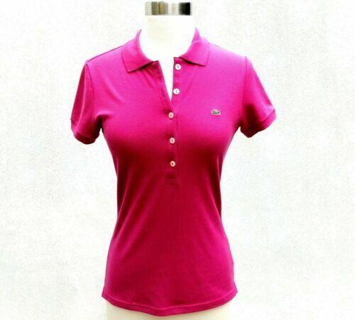 Izod-Lacoste pink casual short sleeve cotton polo shirt ladies Medium