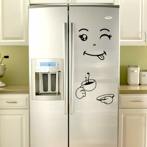 Cute Smile Delicious Face Kitchen Fridge Decal Home Wall Stickers  1PC FREE SHIP